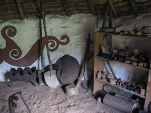 Inside an Iron Age roundhouse at Butser